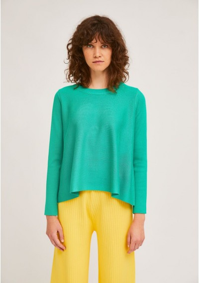 Green A-line ribbed...