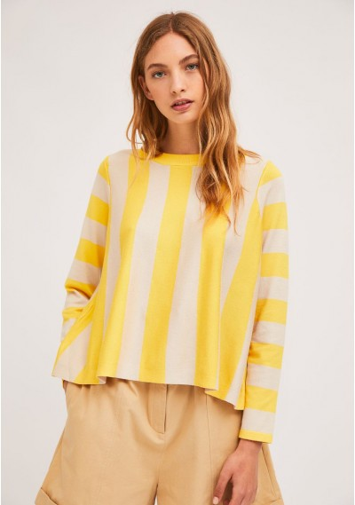 Yellow A-line jumper with...