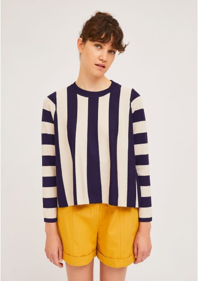 Navy A-line jumper with...