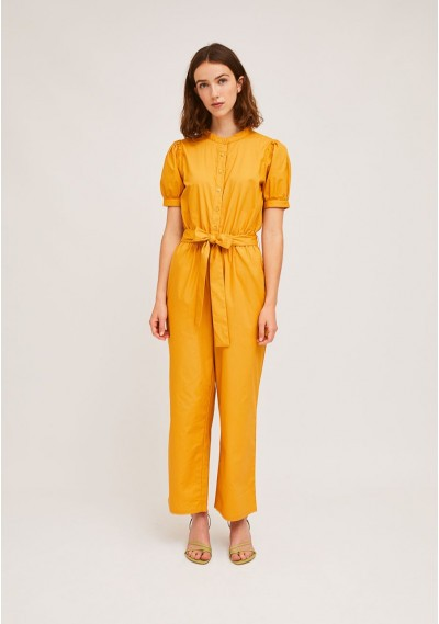 Long yellow buttoned...