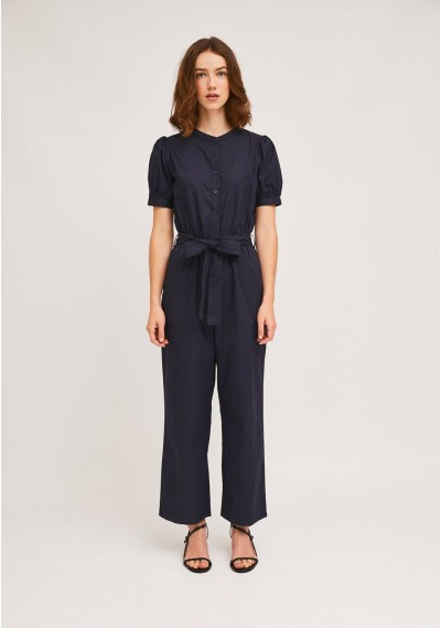 Long navy buttoned...