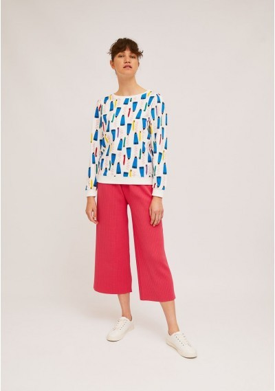Cotton ribbed finish toothbrush and toothpaste print sweater -  Compañía Fantástica