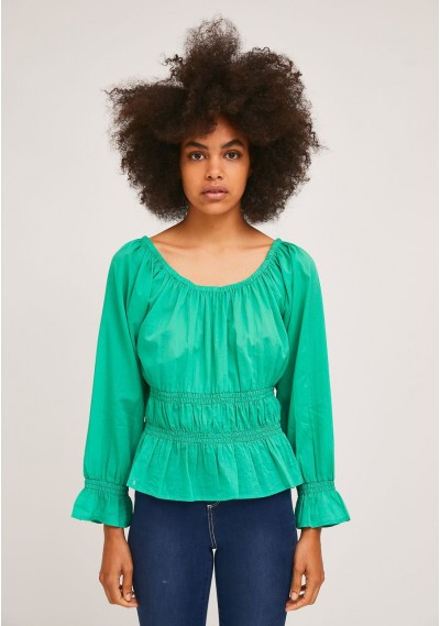 Green top with elastic...
