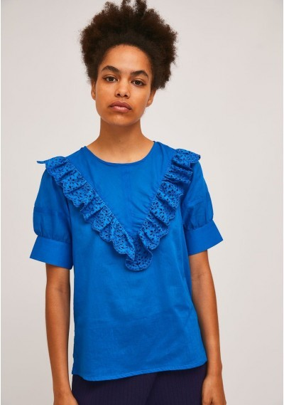 Blue top with front lace...