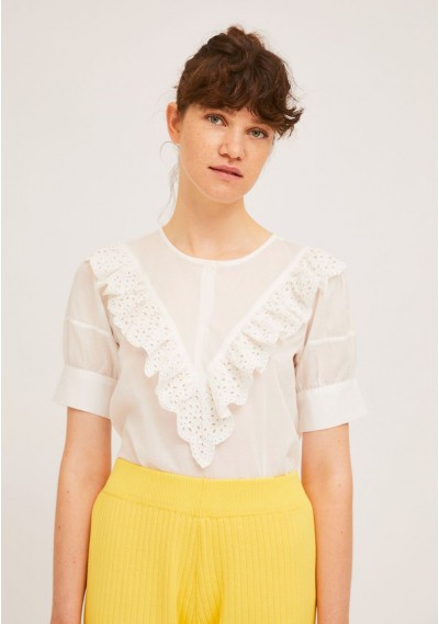 White top with front lace...