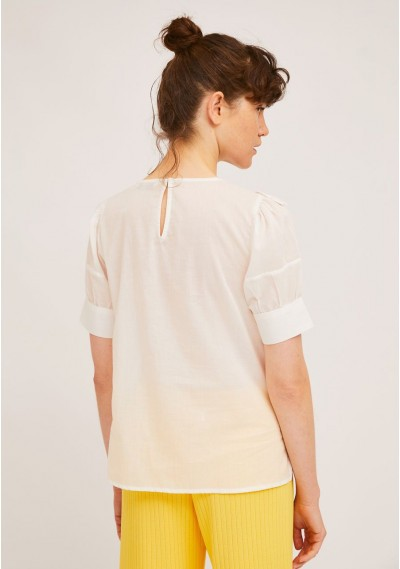White top with front lace ruffle -  Compañía Fantástica