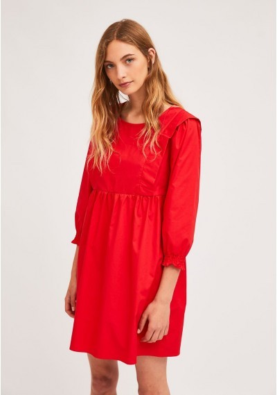 Red babydoll dress with...