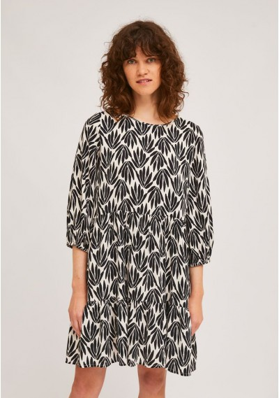 A-line ruffled dress with...