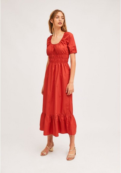 Coral midi dress with...