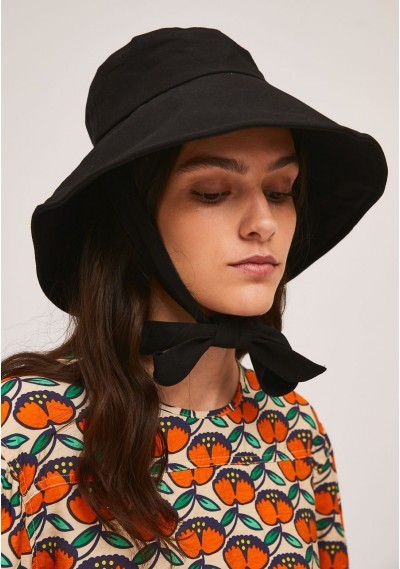 Black bucket hat with...