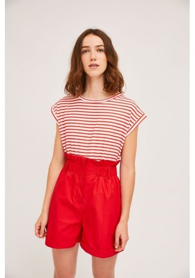 Cotton t-shirt with red...