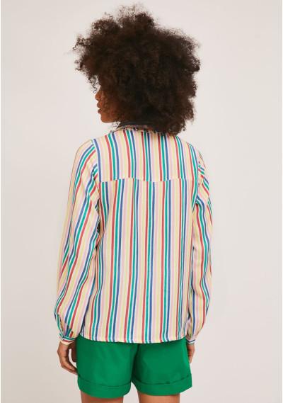 Long-sleeve shirt with multicolour stripe print -  Compañía Fantástica