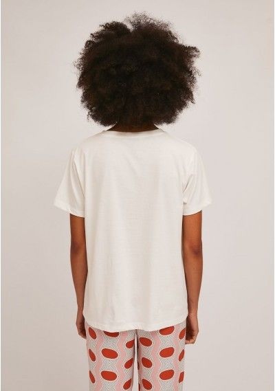 Cotton t-shirt with sardine print -  Compañía Fantástica