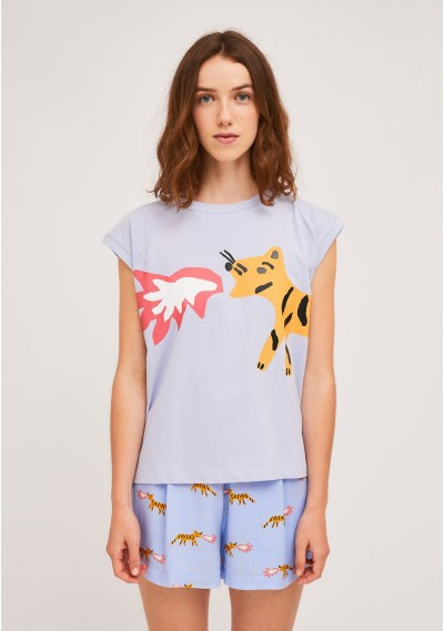 Cotton t-shirt with tiger...