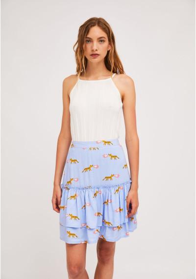 Short ruffled skirt with...