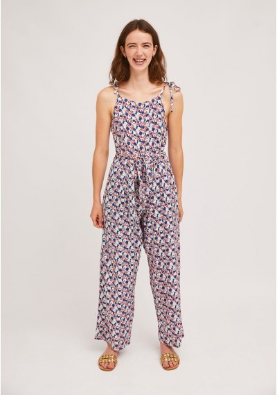 Long strap jumpsuit with...