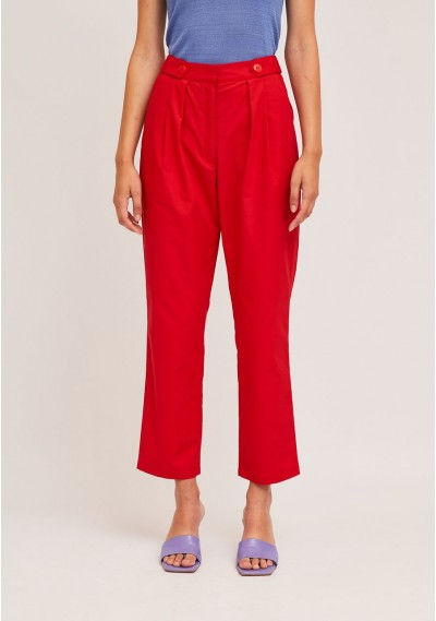 Red ankle grazer trousers...
