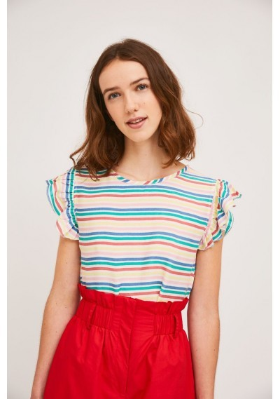 Top with armhole ruffles...