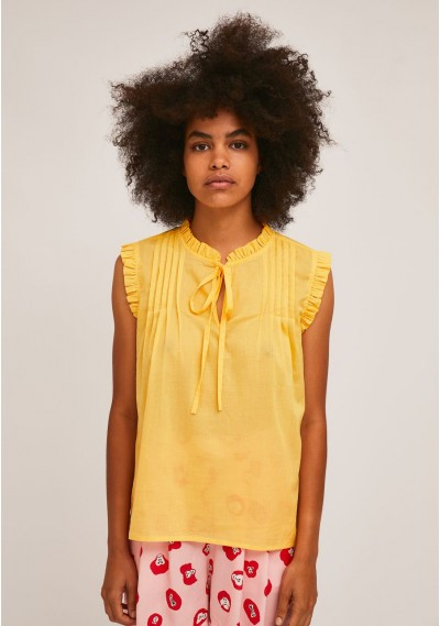 Yellow cotton top with...