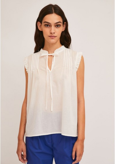 White cotton top with...