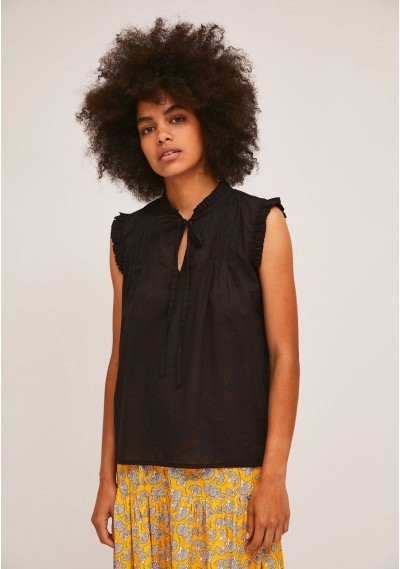 Black cotton top with...
