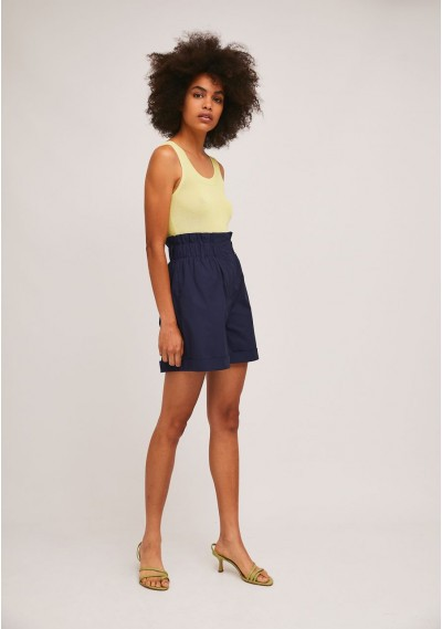 Loose knitted top in yellow with wide straps -  Compañía Fantástica