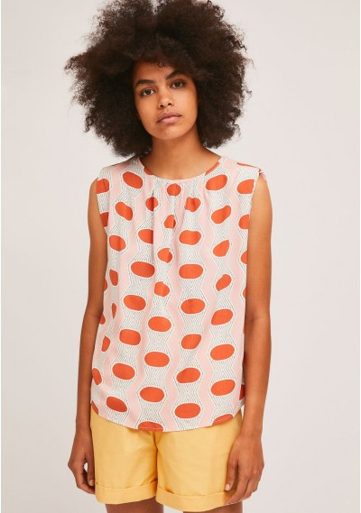 Sleeveless top with...