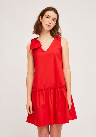 Short red dress with...