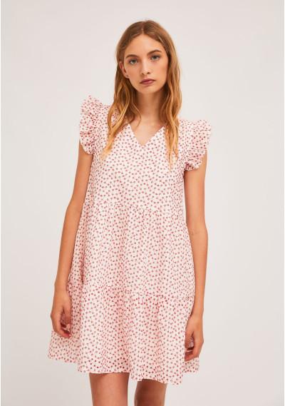 Short dress with ruffles...