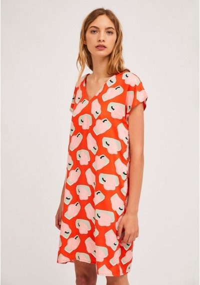 Short A-line dress with...