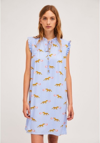 Short sleeveless dress with...