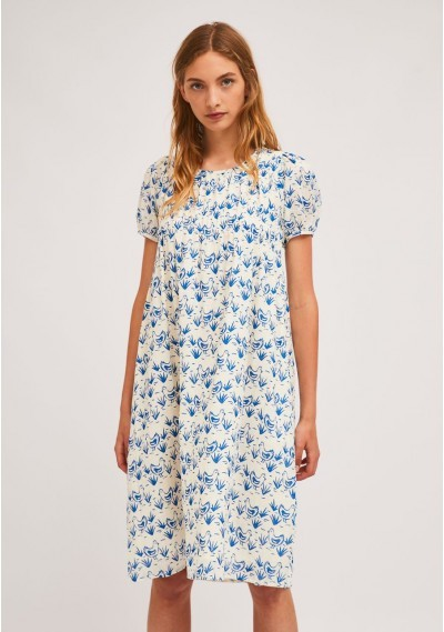 Midi dress with darting and...