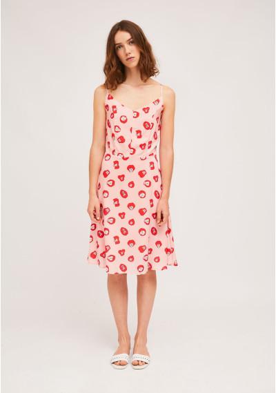 Midi strap dress with...