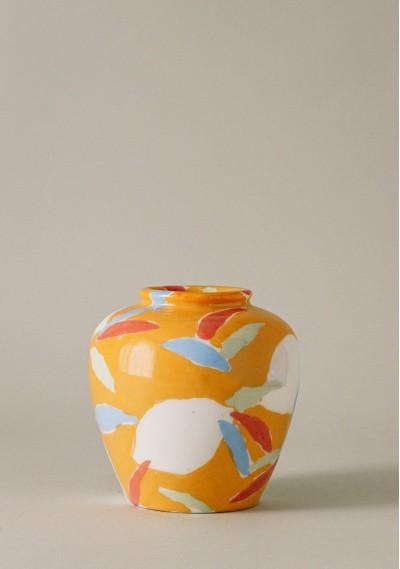 Bucket-size ceramic vase...