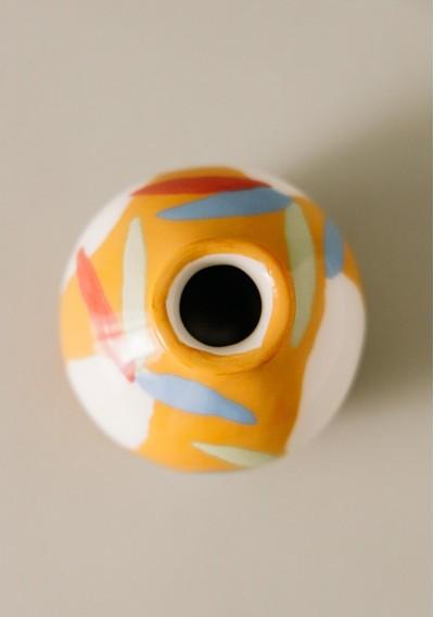 Apple-size ceramic vase...