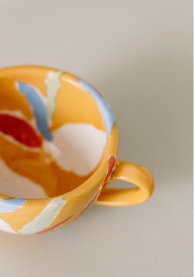 Breakfast ceramic mug with fruit print -  Compañía Fantástica