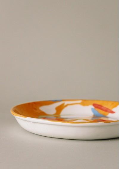 Breakfast ceramic plate with fruit print -  Compañía Fantástica