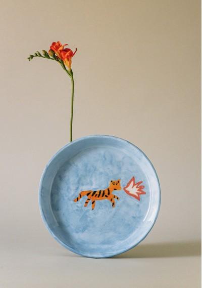 Breakfast ceramic plate...