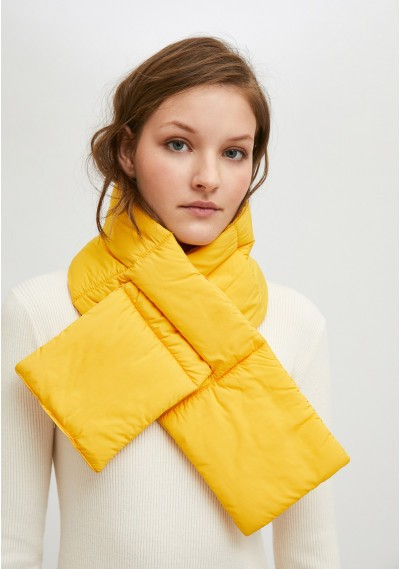 Yellow padded scarf with...