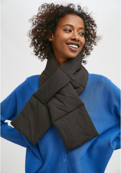 Black padded scarf with...