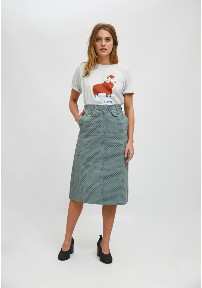 Ram print short-sleeve T-shirt -  Compañía Fantástica