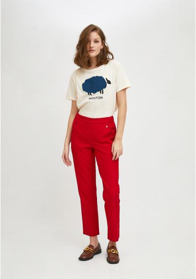 Sheep print short-sleeve T-shirt -  Compañía Fantástica