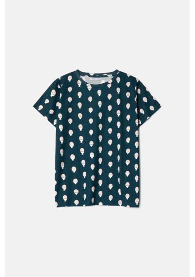 Boiled egg print short-sleeve T-shirt -  Compañía Fantástica