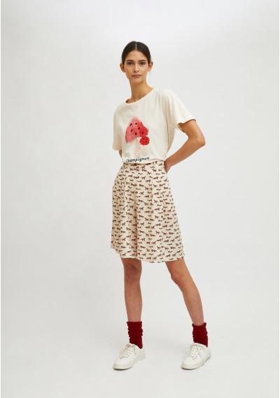 Toadstool print short-sleeve T-shirt -  Compañía Fantástica