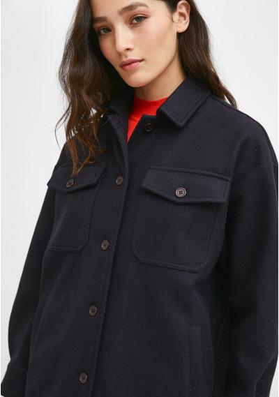 Navy overshirt jacket with...