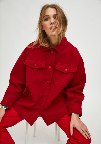 Red overshirt jacket with...