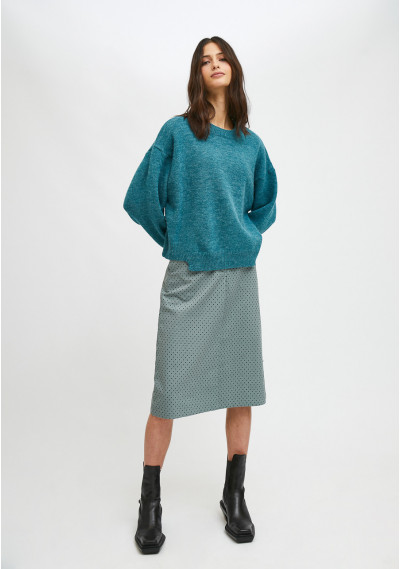 Blue knit jumper with...