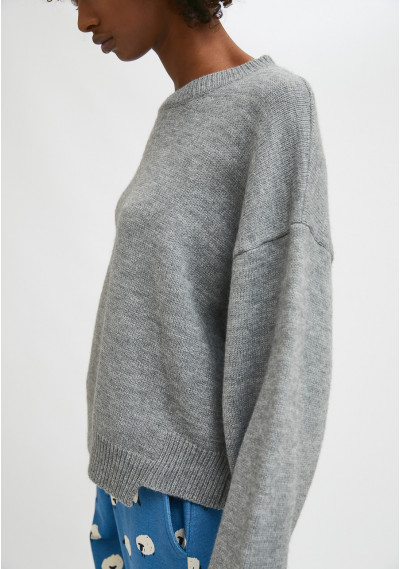 Grey knit jumper with...