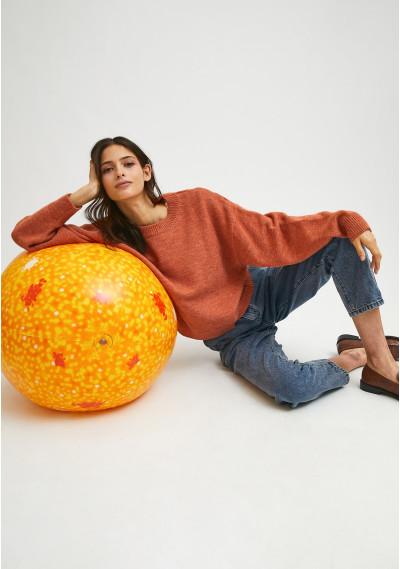 Orange knit jumper with...