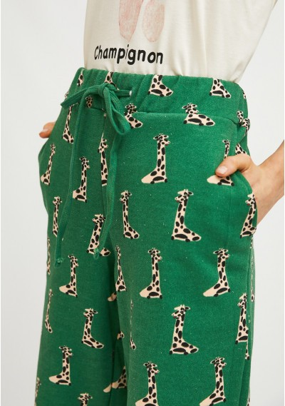 Giraffe print cotton joggers -  Compañía Fantástica